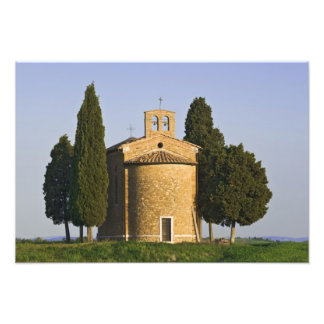Italy, Tuscany. Close-up of Chapel of Vitaleta Photo Art