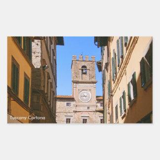 Italy Tuscany Cortona. Town Hall. Sticker
