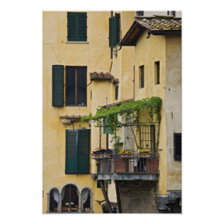 Italy, Tuscany, Florence. Balcony and Poster