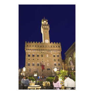 Italy, Tuscany, Florence. Nighttime dining Photograph