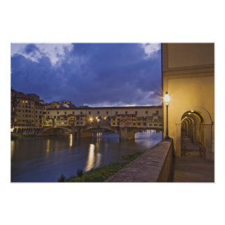 Italy, Tuscany, Florence. Ponte Vecchio Poster