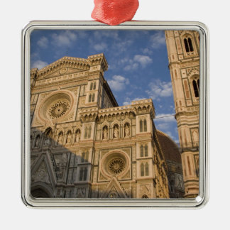 Italy, Tuscany, Florence. The Duomo. Silver-Colored Square Ornament