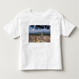 Italy, Tuscany, Lucca, View of the town and 4 Tees