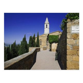 Italy, Tuscany, Pienza. Part of Via dell' Postcard