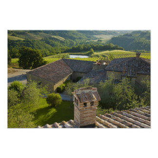 Italy, Tuscany. Roofop view of the villa Poster