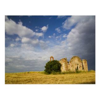 Italy, Tuscany, Ruin of Old Church in Tuscany. Postcard