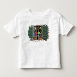 Italy, Tuscany, Siena, Window of a house in T-shirt