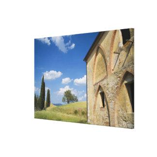 Italy, Tuscany, Tuscan Villa in Spring. Canvas Print