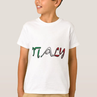 Italy Typography Country Flag Colors T-Shirt
