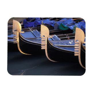 Italy, Veneto, Venice. Row of Gondolas. Magnet
