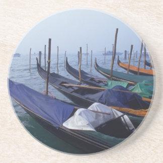 Italy, Venice. Gondolas. Beverage Coasters