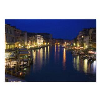 Italy, Venice, Night View Along the Grand 2 Photo Art