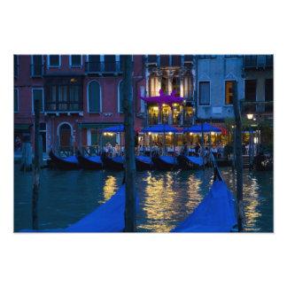 Italy, Venice, Night View Along the Grand Art Photo
