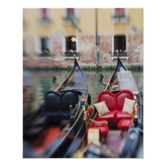 Italy, Venice, Selective Focus of Gondola in the 2 Poster