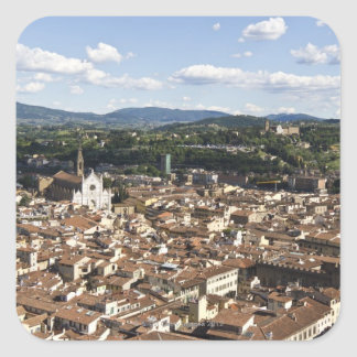 Italy, View of Florence with Church of Santa Square Sticker