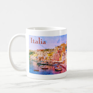 Italy Vintage Fishing Harbor Travel Souvenir Coffee Mug