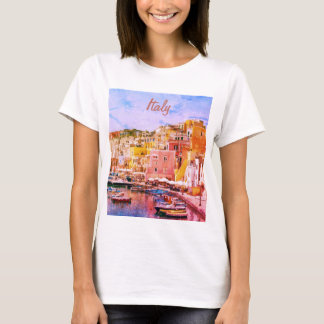 Italy Vintage Romantic Fishing Port T-Shirt