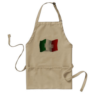 Italy Waving Flag Standard Apron