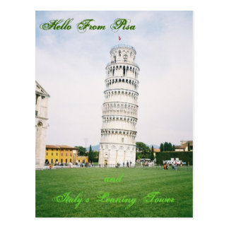 Italy's Leaning Tower of Pisa Post Card