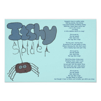 Itchy spider poster