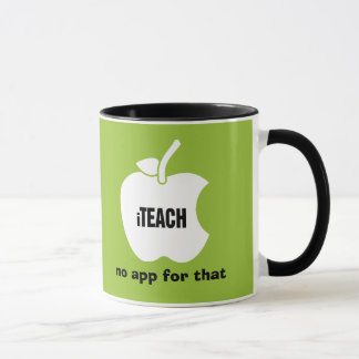 iTeach. No app for that. Quote | Apple Gift Mugs