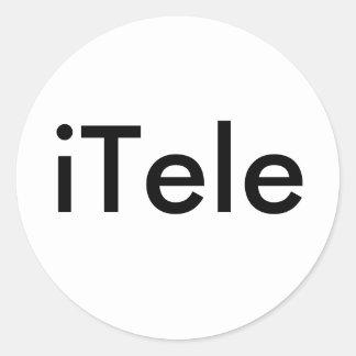 iTele Classic Round Sticker