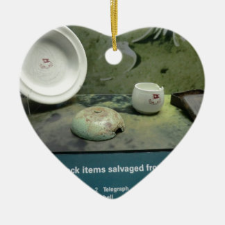 Items Salvaged from the Titanic Ceramic Heart Ornament