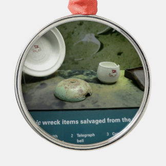 Items Salvaged from the Titanic Silver-Colored Round Ornament