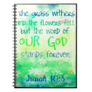Items with colorful scripture design note books