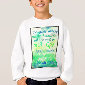 Items with colorful scripture design sweatshirt