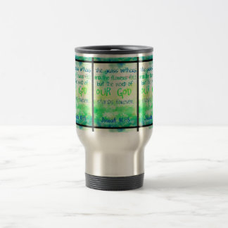 Items with colorful scripture design travel mug