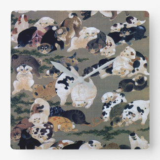 Itō Jakuchū, Itoh it is young 冲, hundred dog Square Wall Clock