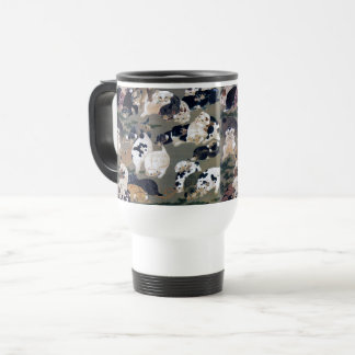Itō Jakuchū, Itoh it is young 冲, hundred dog Travel Mug