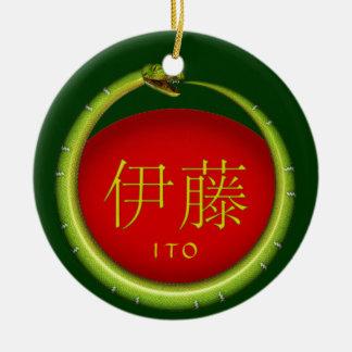 Ito Monogram Snake Ceramic Ornament