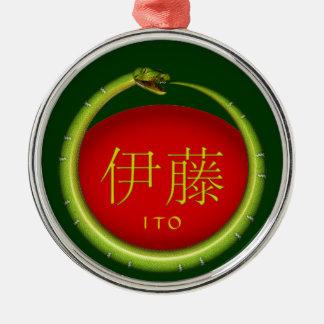 Ito Monogram Snake Metal Ornament
