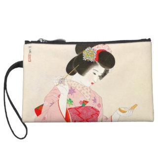 Ito Shinsui Make up vntage japanese geisha lady Wristlet