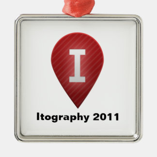 Itography 2011 metal ornament