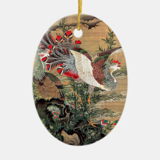 Itoh it is young 冲, the Asahi day Houou figure Ceramic Oval Ornament