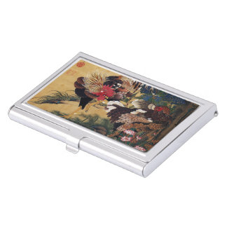 Itoh it is young 冲 'the hydrangea pair chicken business card holder