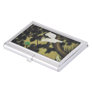 Itoh it is young 冲 'the old pine tree parrot business card case