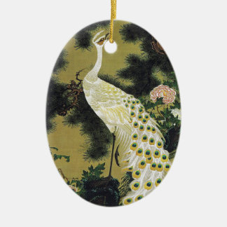 Itoh it is young the 冲 old pine tree hole sparrow ceramic oval ornament