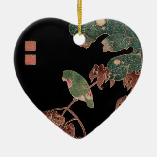Itoh Jakuchu, Itoh it is young 冲, in the Chinese Ceramic Heart Ornament