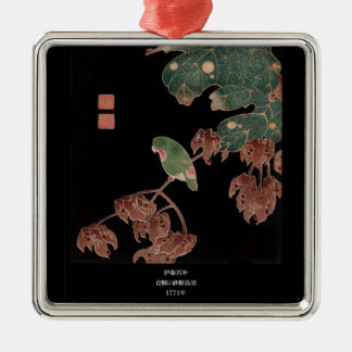 Itoh Jakuchu, Itoh it is young 冲, in the Chinese Silver-Colored Square Ornament