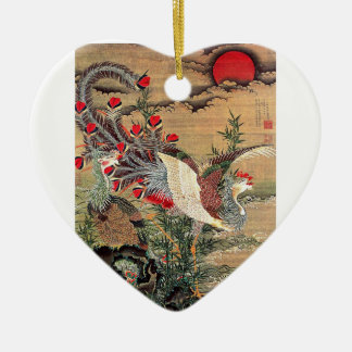 Itoh Jakuchu, Itoh it is young 冲, the Asahi day Ceramic Ornament