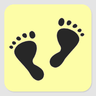 It's a Baby - Baby Feet Square Sticker