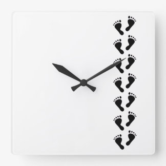 It's a Baby - Baby Feet Square Wall Clock