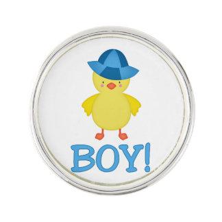 It's A Baby Boy Duckie Blue Hat Lapel Pin