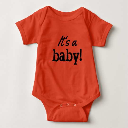 it's a baby! gender neutral baby bodysuit