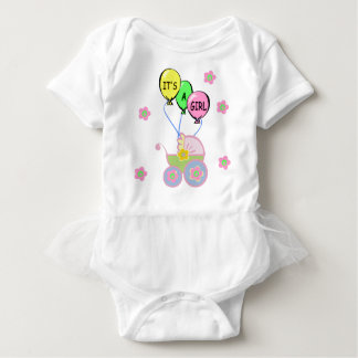 Its A Baby Girl Baby Bodysuit