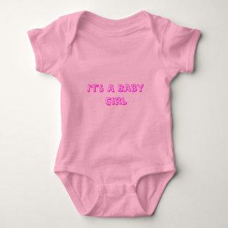 It's A Baby Girl Baby Bodysuit